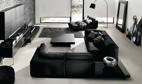 black furniture living room