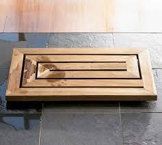 Carved Bamboo Bath Mats