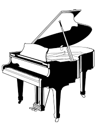 Small Picture Piano Coloring Page Handipoints
