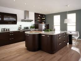 great painted kitchen cabinets black metal gas range top gorgeous white granite countertop brown varnish wood