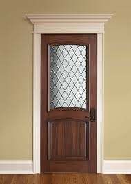 simple design interior wood doors with glass interior door custom single solid wood with walnut finish