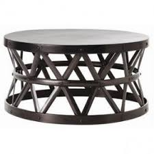 round industrial coffee table. Round Metal Coffee Tables Hammered Drum Cross Dark Bronze Table Glass Top Industrial T