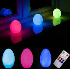 Colour Changing Egg Light Remote Controlled Indoor Outdoor Colour Changing Egg Mood Lamp Led Night Light N