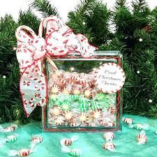 glass block craft ideas glass block decorations candy container gift snowman glass window block craft ideas