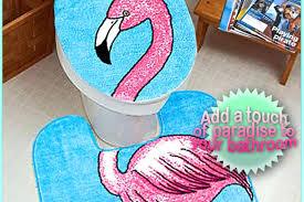 flamingo bathroom pink