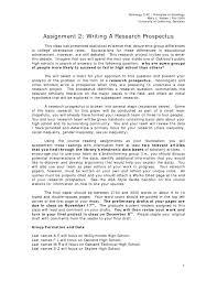 Research Paper Samples Essay Prospectus Examples Elis