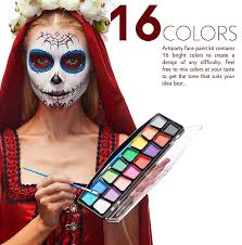 amazon face paint kit body paint set non toxic amazon face paint kit body paint set non toxic hypoallergenic cosplay makeup kit easy to apply remove