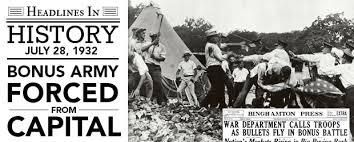 Bonus Army Bonus Army Forced From The Capital July 28 1932 Fishwrap The