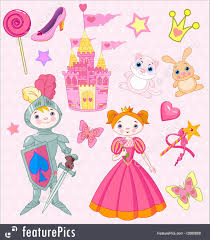 Elements Of A Fairy Tale Fairy Tale Vector Elements