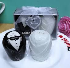 retail wedding giveaways ceramic salt pepper shakers christmas