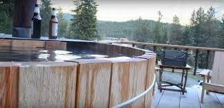 how to build a diy wood fired cedar hot tub