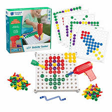Educational Toy Design Educational Insights Design Drill Activity Center 146 Piece Build Learn Fine Motor Skills Stem Learning With Toy Drill