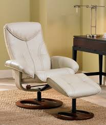 soft touch vanilla swivel recliner good fit for small spaces