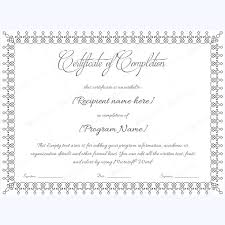 Formal Certificate Of Completion Template Rome Fontanacountryinn Com