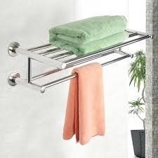 Bathroom Towel Train Rack With Hooks Room Shelf Wall Mounted. Wall Mounted  Towel Rack Shelf Storage Bathroom. Wall Towel Rack Bathroom For Rolled  Towels ...