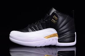 jordan shoes for girls black and white. 2016-newest-air-jordan-12-black-white-gold- jordan shoes for girls black and white