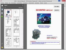 mahindra scorpio service manual wiring diagram workshop service repair manual wiring