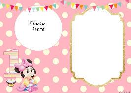 minnie mouse invitation template free printable minnie mouse 1st birthday invitations rome