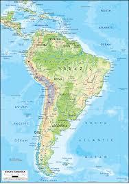 Physical Map Of South America Ezilon Maps