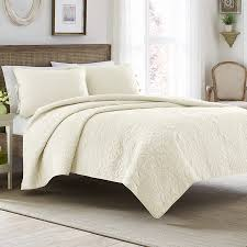 laura ashley felicity ivory quilt set