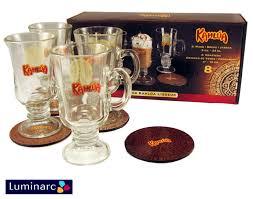 kahlua 8 piece gift set 4 gl mugs 4 coasters ships free