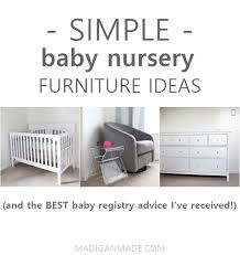 gray nursery furniture. Nursery Furniture Ideas (\u0026 The Best Baby Registry Advice I\u0027ve Received So Far Gray