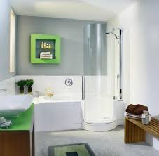 Interior Creative Black White Tile Small Bathroom Design Using - Small bathroom with tub