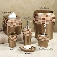 Wayfair Bathroom Accessories Bathroom Accessories Set With Stone Mosaic Bathroom Accessories