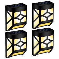 Clip On Solar Deck Lights 2019 Best Gigalumi 4 Pack Waterproof Mission Style Warm White Solar Wall Lights For Outdoor Deck Buy Solar Deck Lights Solar Wall Lights Warm White