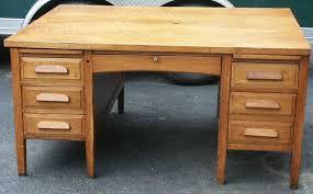 artisans of the valley golden oak partners desk after restoration quarter sawn