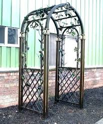 wrought iron garden trellis rod archways arch 4 gate wrought iron arch