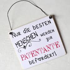 Schild Nur Die Besten Menschen Werden Zur Patentante Befördert