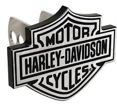 harley davidson gifts logo receiver hitch plug full view