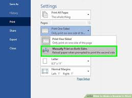 How To Write A Pamphlet On Word How To Make A Booklet In Word With Pictures Wikihow