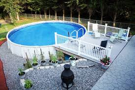 above ground pool with deck and hot tub. Back Yard With Ound Ground Pool Using Wooden End Deck Above Above Ground Pool With Deck And Hot Tub E