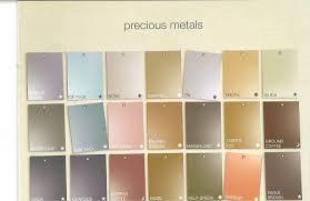 Martha Stewarts Precious Metals Paint Color Chart