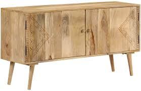 h4home scandinavian sideboard cabinet solid mango wood