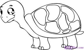 Small Picture How to Draw a Cartoon Turtle Step by Step Cartoon Animals
