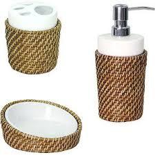 wicker bathroom accessories set home design