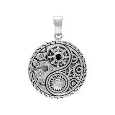 steampunk yin yang pendant tpd3872
