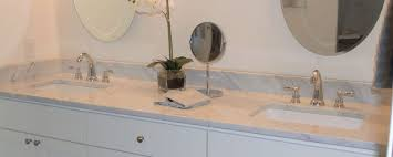 white carrera marble vanity top