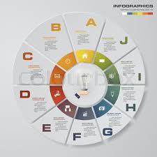 Modern Pie Chart Abstract 10 Steps Modern Pie Chart Stock Vector