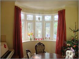 image of bay window curtain rod material