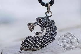 drr the head of viking boat pendant sterling silver unique viking ship necklace viking work