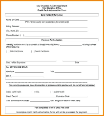 eft payment authorization form template card