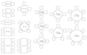 Round Table Seating Chart For 8 6 Round Table For 8 Foot Seating Rectangular Size Sizes