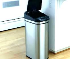 kitchen trash can small wooden