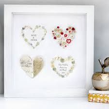 personalised ruby anniversary four hearts