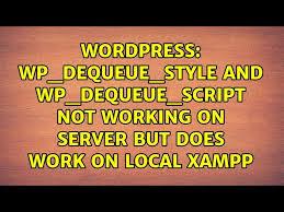 wp enqueue script wp dequeue style
