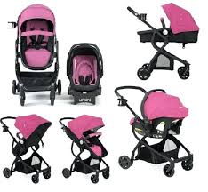 baby car seat and stroller combo travel system infant carriage with pink boy girl
